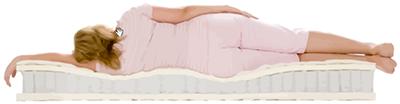 Человек с весом около 90 кг на мягком матрасе с независимыми пружинами и натуральным латексом